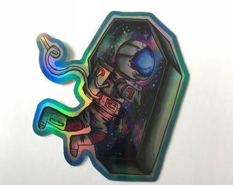Spaceman HOLOGRAPHIC vinyl sticker
