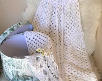 Christening dress, baptism dress, blessing dress, long baby dress, Crochet Pattern
