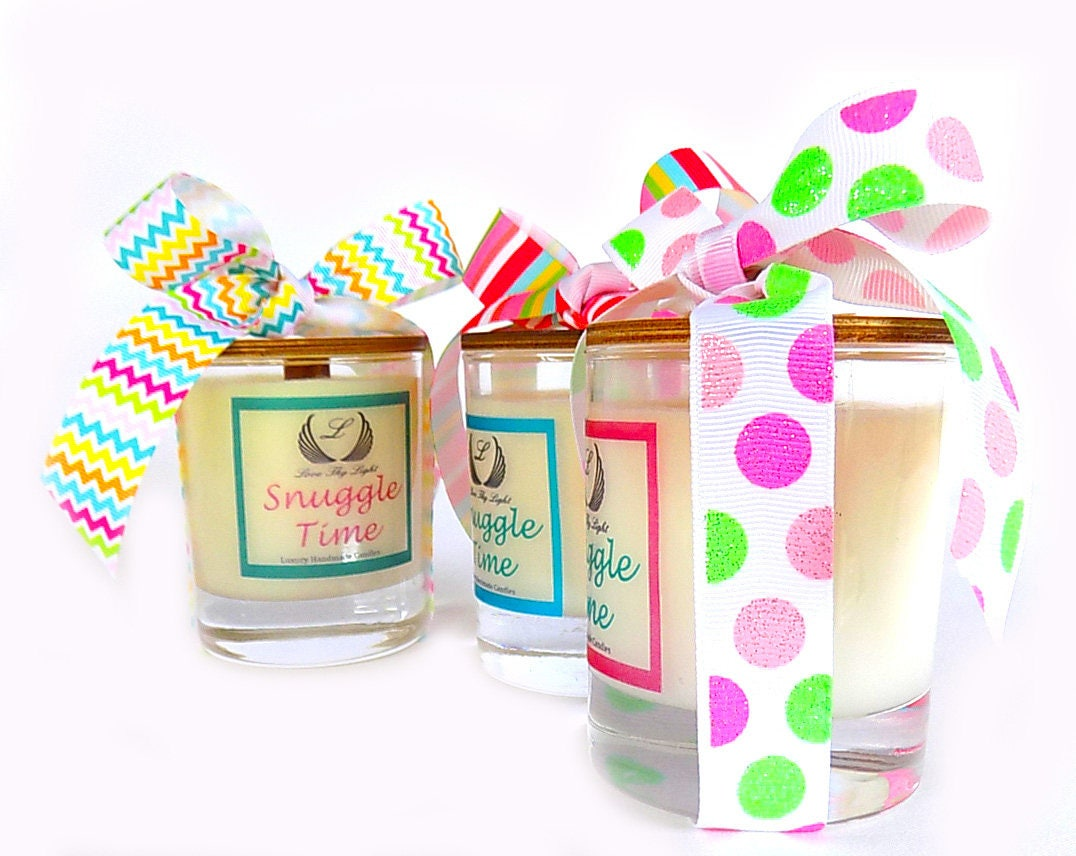 Snuggle Time Scented Soy Candles Birthday Gift For Her Nan Mum Best