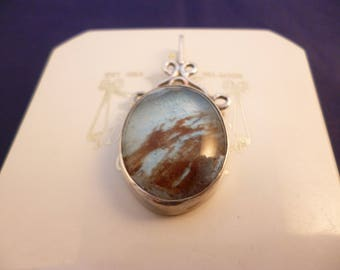 """A unique and stunning dichroic glass and silver pendant - 925 - sterling silver - 1.6"""" x 0.75"""" -g"""