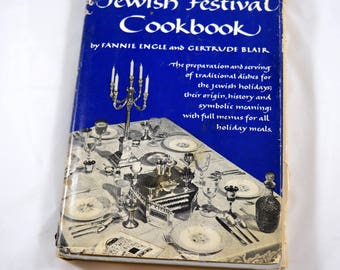 Jewish Festival Cookbook Fannie Engle Gertrude Blair 1954 Vintage Jewish Cookbook 1950s Cookbook