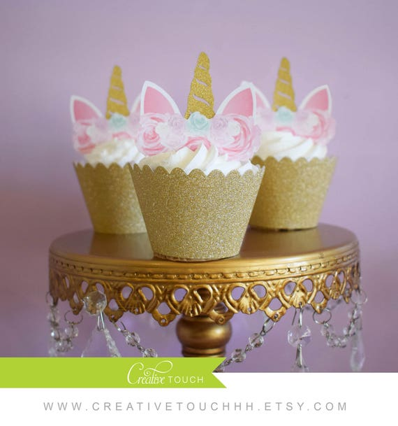 Unicorn Cupcake Topper Unicorn Cake Unicorn Birthday