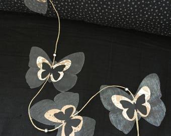 Black Butterfly Garland