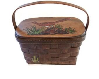 caro nan purse - roadrunner bags - basket bag - vintage basket bag - vintage basket purse - basket handbag - 60s handbag - vintage purse
