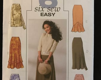 Butterick B4233 - Easy to Sew Skirts in Knee, Midi, or Maxi Length with Asymmetrical, Ruffle and Flounce Options - Size 18 20 22