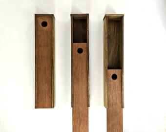 Long Wooden Pencil Case, Paintbrush Box, Slide Top Storage Box, Skinny Gift Box, Long Wand Box, Craft Supply Organization Box, Incense Box