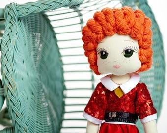 Annie-ta: Handmade Cloth Doll by Manolitas