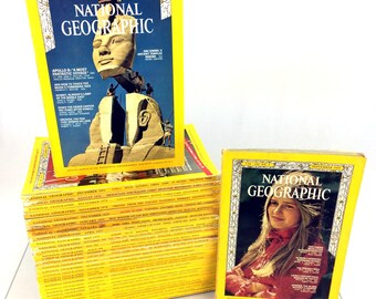 Lot 32 National Geographic Magazines Issues 1969-2013 60s 70s 90s 2000s