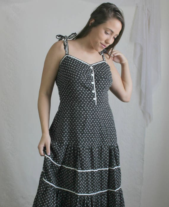 Black prairie dress for kids