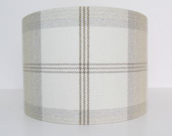 Tartan Cream Lampshade Brown by Porter and Stone
