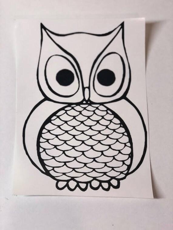 Custom Owl Vinyl Decal Car Sticker - Owl custom vinyl decals for car