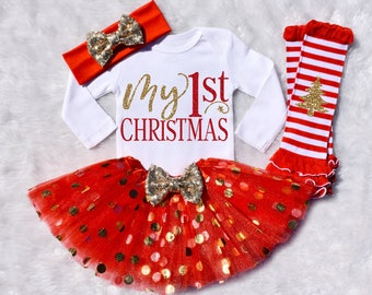 My 1st Christmas. My 1st Christmas Outfit Girl. My First Christmas. My 1st Christmas Girl. Baby Girl Christmas. Long Sleeve. S11 XMS (RED)