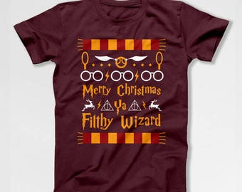 Funny Christmas T Shirt Wizard Gifts Xmas Present Ideas Holiday TShirt Christmas Ideas Xmas Clothing Holiday Clothes Wizard Tee TEP-531