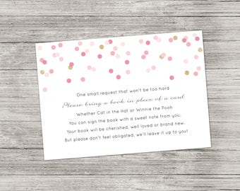 Book Request Card - Baby Shower - Instant Download