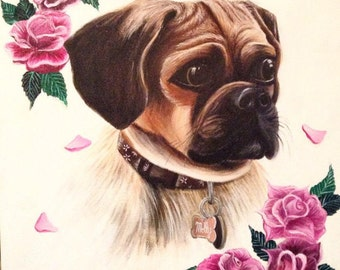 Custom Pet Portraits- Acrylic on Canvas