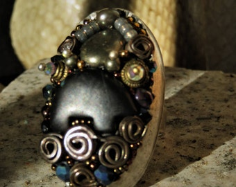 big ring series black cumin, Dark-rock, under the sign of the bear-totem. Love and conscience