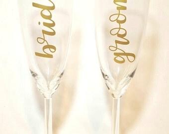 wedding toast, champagne glass, bride and groom glass, toasting glasses, bride glass, groom glass, wedding decor, wedding gifts, weddings