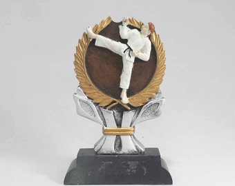 CLOSEOUT - Karate Resin Award - Only 1 Available - Free Engraving