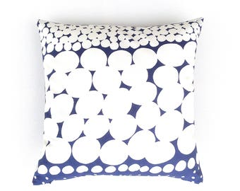 white and blue cushion cover geometric white cushion reversible marimekko sofa pillow throw