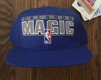 Vintage 90s Deadstock Orlando Magic Sports Specialties NBA Snapback Hat Baseball Cap