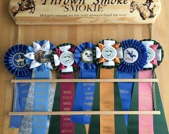 Custom Equestrian Horse Show Ribbon Display or Rack