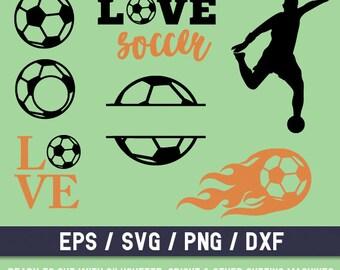Soccer svg, Soccer svg file, Soccer cut file, Soccer silhouette svg, Soccer monogram, Soccer ball svg, Soccer ball svg file