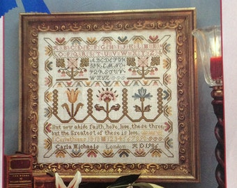 Just Cross Stitch Magazine-June 1987, vintage cross stitch, cross stitch sampler, cross stitch charts, spring flowers cross stitch