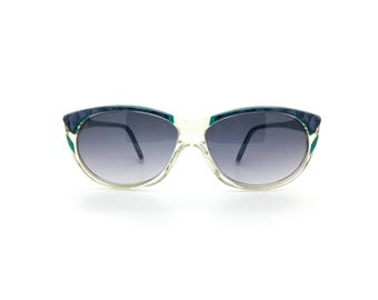 Genuine 1980s Alain Mikli AM 0125 718 Vintage Sunglasses // Hand Made in France // New Old Stock