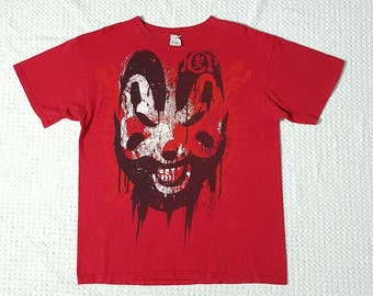INSANE CLOWN POSSE Red T- Shirt Size L Anvil Pre- shrunk 100% Cotton