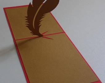 Kirigami feather card