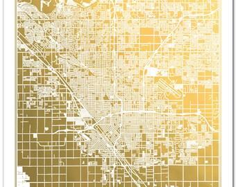 Custom Map, Gold Foil Print, Gold Foil Map™, Gold Foil Print, Map Print, Poster, Anniversary Gift, Wedding Gift