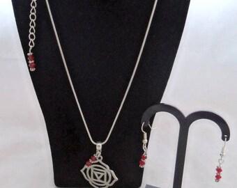 M*  Chakra Pendants with Matching Earrings (2215)