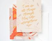 9-Pack Handlettered Illustrated Scripture Encouragement Greeting Cards
