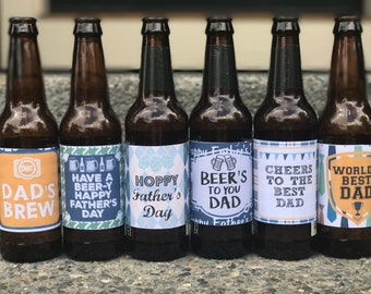 Father's Day Beer Labels Printable