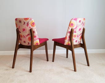 Mid Century Pair – Vintage Chairs, Stunning New Upholstery