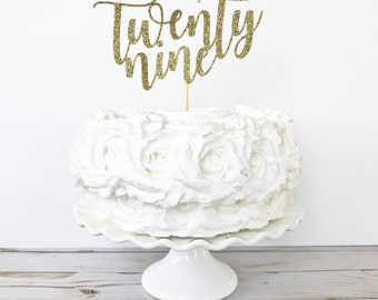 Twenty Nine Cake Topper / 29 Cake Topper / 29 Years Old / 29th Birthday / Custom Age Cake Topper / Milestone Birthday