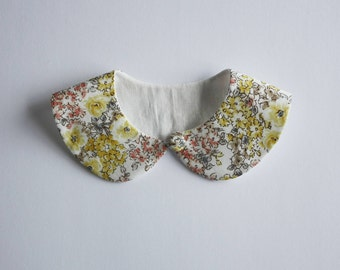 Yellow Spring Blossoms Peterpan Collar