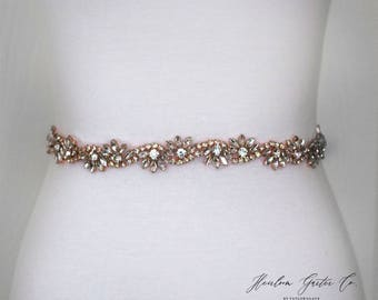 Rose Gold Bridal Sash - The Perfect Rose Gold Wedding Belt