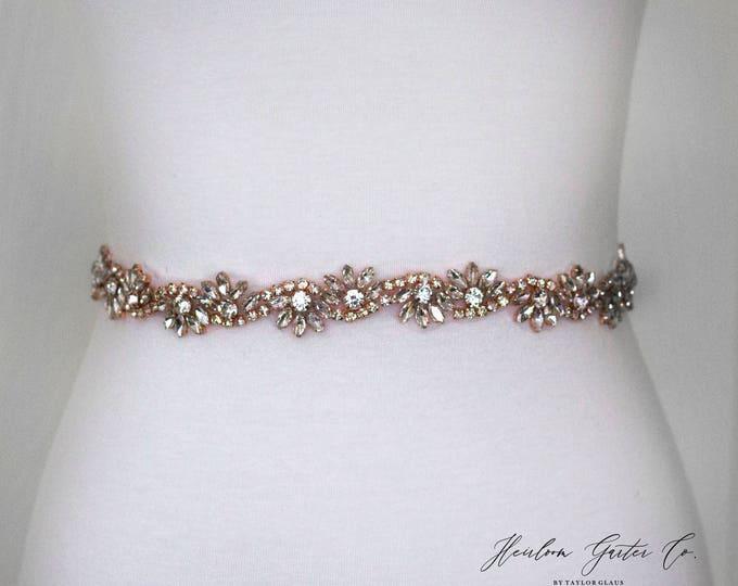 Rose Gold Bridal Sash - The Perfect Rose Gold Wedding Belt