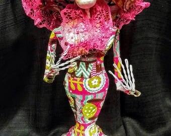 Day of the Dead Catrina La Calavera Doll Sculpture