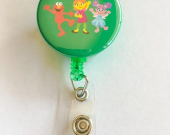 Sesame Street Friends ID badge reel