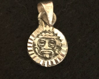 Aztec Mexican Sterling Silver Pendant