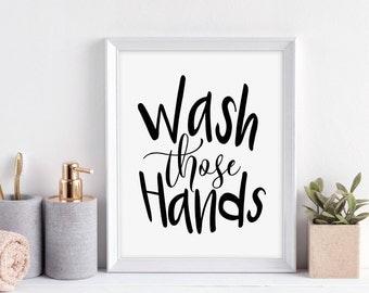 Bathroom Signs Wash Hands wash hands sign | etsy