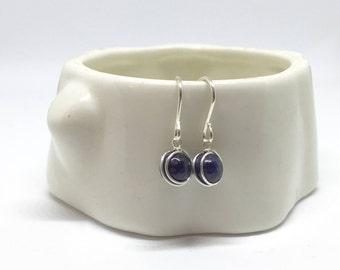Sapphire earrings, 925 sterling silver sapphire earrings, September birthstone earrings, natural sapphire earrings, real sapphire earrings