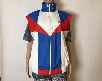 Vintage Ski Vest Rainbow Waistcoat Jacket