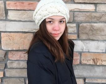 Cable Hat Pattern Crochet/ Slouchy Hat/ Crochet Hat Pattern/ Cable Hat Crochet Pattern/  Crochet Pattern/ Cable Hat Crochet/ Crochet Hat