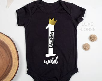 One year old gift etsy personalized wild one tshirt onesie first birthday one birthday outfit girls negle Gallery