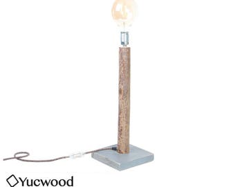 Edison Table lamp, ' Willow ' Industrial, Recycled Wood