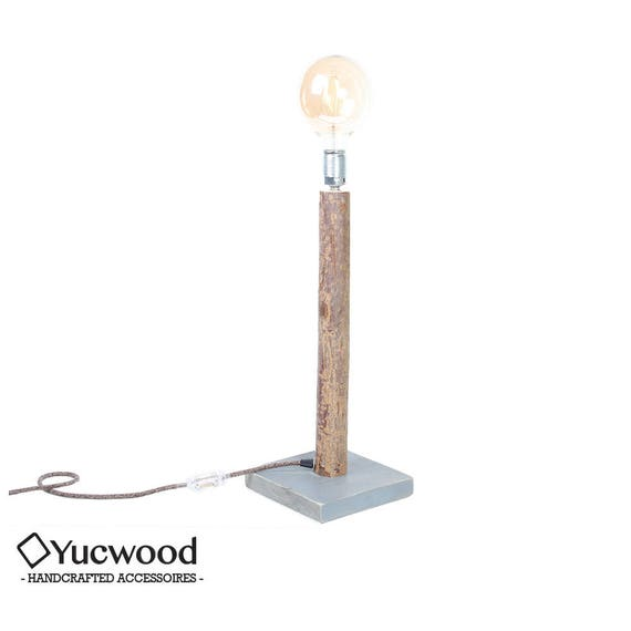 Edison sideboard lamp, ' Industrial Willow ', recycled wood
