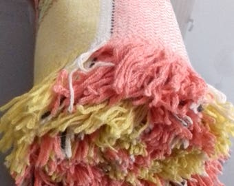 Colourful Vintage Welsh wool Blanket